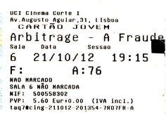 """Cinema: """"A Fraude"""" (Arbitrage) @ UCI a 21 de Outubro de 2012."""