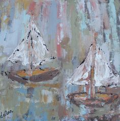 #Sailboats #DeannHebert #Vintage #Art