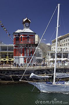 The V & A Waterfront Capetown South Africa - The Clock Tower . Places To Travel, Places To Visit, V&a Waterfront, Le Cap, Cape Town South Africa, Port Elizabeth, Out Of Africa, Africa Travel, 6 Years