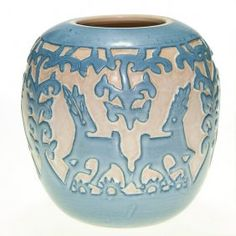 "UND vase with deer, Anderson, 1948, 5 7/8"" : Lot 372"