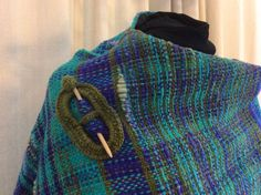Hand Spun, Hand Woven shawl on rigid heddle loom, Hand Dyed, Merino Shawl by LavenderDreamWeaver on Etsy