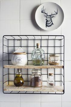 makeshift shelves for kitchen er bathroom Home Decor Kitchen, Home Kitchens, Kitchen Design, Diy Cozinha, Sweet Home, Ideas Para Organizar, Minimal Home, Interior Decorating, Interior Design