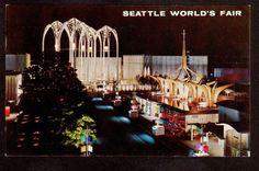 1962 U s Science Pavilion Seattle World's Fair Exposition Postcard