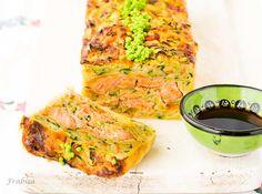 Pastel de verduras con salmon fresco
