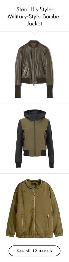 """""""Steal His Style: Military-Style Bomber Jacket"""" by polyvore-editorial ❤ liked on Polyvore featuring bomberjacket, stealhisstyle, Burton, Keen Footwear, DAMIR DOMA, Chicnova Fashion, MANGO, Paco Rabanne, outerwear and jackets"""