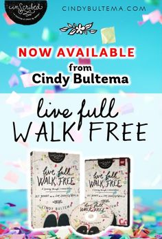 Cindy Bultema's Live Full Walk Free, a Bible study journey through 1 Corinthians, is now available where books are sold. Click here to download FREE resources.