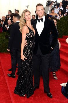 The 20 Most Stylish Couples at the 2014 Met Gala: Gisele Bundchen and Tom Brady