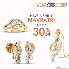 Navratri Special: Avail Up to 30% off on Diamond Jewellery with WearYourShine. Buy now : http://goo.gl/Ftc234 #WearYourShine #Love #PCJeweller #Happiness #Jewellery #Shopping #Online #TBT #LatePost #Likes #Follow #Like4Like #Me #New #Jewelry #India #Women #Trends #LovingIt #Happy