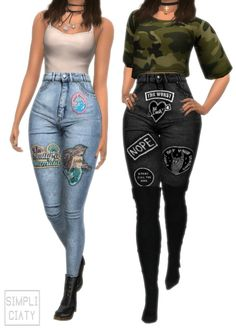 Simpliciaty: Savage Sims jeans • Sims 4 Downloads