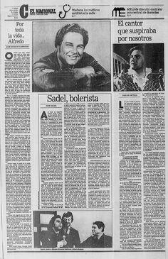 Murió Alfredo Sadel. Publicado el 29 de junio de 1989.