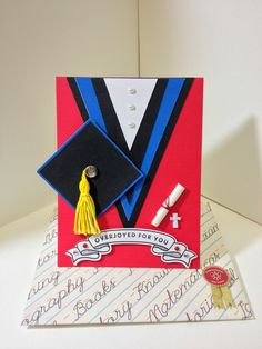Graduation card for me my friend who received her Phd from UC Berkeley~ Handmade by Jodie Hui ~Oct 2014~
