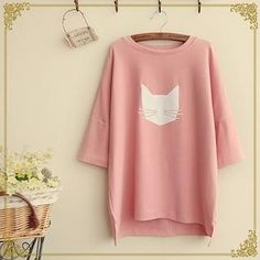 Buy 'Fairyland � Cat Print T-Shirt' with Free International Shipping at…