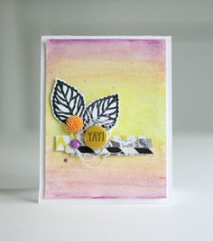 Watercolor for Card Makers: day 2, technique 2- by Sweet Paper Treats