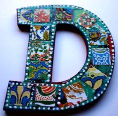 Custom letter D Letters created by Jem - Etsy store Dulcet Whimsy https://www.etsy.com/shop/Jemyem