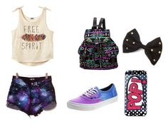 """Sin título #14"" by vicky-opazo ❤ liked on Polyvore featuring Vans, Skinnydip, LoveIt, day and dayout"
