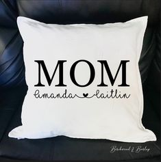 The perfect gift idea for a Mom who has everything. a custom cushion cover! She can zip it right over-top of an old she already has. Custom Cushion Covers, Custom Pillows, Decorative Pillows, Customized Gifts, Personalized Gifts, Custom Wood Signs, Etsy Crafts, Handmade Decorations, Rustic Decor