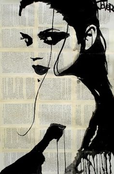 "Saatchi Online Artist Loui Jover; Drawing, ""phoenix"" #art I really like the idea of using the shadows as lines rather than typical lines"
