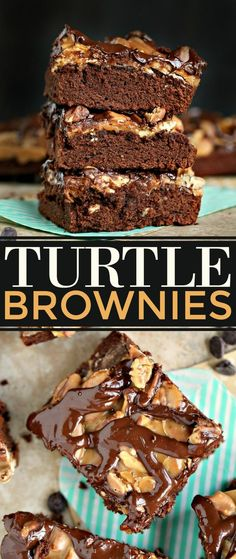 dessert, these Turtle Brownies are layered with caramel sauce, pecans ...