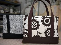 Great tote bag pattern and tutorial