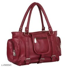 Checkout this latest Handbags Set Product Name: *Trendy Women's Maroon PU Handbag* Material: Pu Compartment Closure: Zip No. Of Main Compartments: 5 Sling Type: Non Detachable Sling Strap Print Or Pattern Type: Solid Multipack: 1 Country of Origin: India Easy Returns Available In Case Of Any Issue   Catalog Rating: ★4.2 (4079)  Catalog Name: Voguish Stylish Women Handbags CatalogID_731737 C73-SC1073 Code: 472-4988941-993