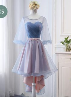 High Low Cheap Ruffle High Low Bridesmaid Dress A Line Wedding Party Gowns 2020 High Low Prom Gowns ,Sexy Sweetheart High Low Prom Dress - Bridesmaid dresses Evening Dress Long, Evening Dresses, Pretty Dresses, Beautiful Dresses, High Low Bridesmaid Dresses, Dress Outfits, Fashion Outfits, Frack, Different Dresses