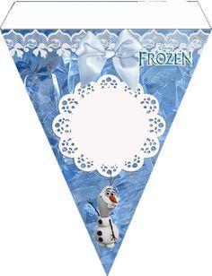 Plantilla banderin guirnalda Frozen Disney para personalizar