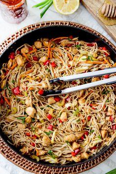 Honey Sriracha Chicken Noodle Bowl