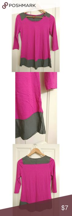 Cute Color Blocked Shirt Cute two tone color pink and gray  Looks great with jeans   3/4 sleeve  Brand new without tags Merona Tops
