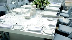 l'event, wedding table, table decor, white, flowers, wedding planner, events