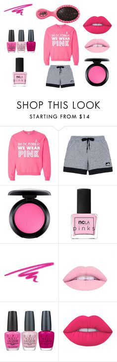 """""""pink"""" by smiggle2013 ❤ liked on Polyvore featuring adidas, MAC Cosmetics, ncLA, NARS Cosmetics, OPI, Lime Crime and colour"""