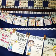 16 posters that beautifully reinforce essential comprehension skills and strategies. Display on your focus wall!