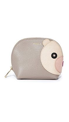 Furla Womens Allegra Small Bear Cosmetic Case Sabbia One Size >>> Continue to the product at the image link. Note:It is Affiliate Link to Amazon.
