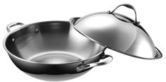 Amazon.com: Cooks Standard NC-00238 Multi-Ply Clad 5-Ply Stainless Steel Chef's Pan with High Dome Lid, 13-Inch: Stainless Steel Wok: Kitchen & Dining