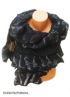Сape silk wool silk scarf stole shawl clothing for от Feltforsoul