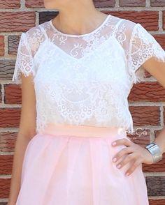 Lourdes White Lace Bolero Crop Top