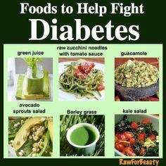 Foods that help fight DIABETES.