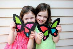 MooMama:+DIY+Suncatcher+Butterflies