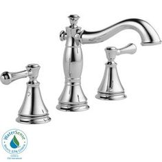 Delta Cassidy Chrome 2-Handle Widespread Watersense Labeled Bathroom Sink Faucet (Drain Included)