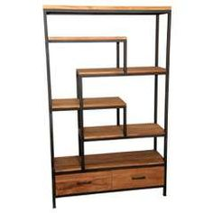 Java Vakkenkast Geborsteld Teak Hout 2 Laden - Wandkasten - Loods 5 Mid Century Modern Furniture, Metal Furniture, Living Room Bedroom, Home And Living, Diy Home Decor, Bookcase, New Homes, Shelves, Interior Design