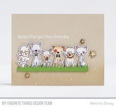 Stamps: Puppy Kisses Die-namics: Puppy Kisses, Spring Scene Builder Melania Deasy #mftstamps