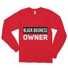 Black Business Owner (White) Long sleeve t-shirt (unisex)