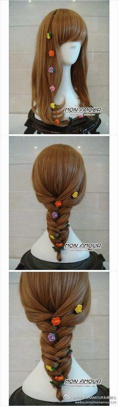 MiiMii - crafts for mom and daughter .: Magic szydełka- inspiration, stitches and patterns for each. Crochet World, Crochet Books, Crochet Home, Crochet Crafts, Crochet Projects, Knit Crochet, Crochet Hair Accessories, Crochet Hair Styles, Hair Garland