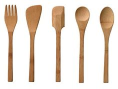 set of Bamboo Kids' Utensils by Branch. Cooking Utensils, Kitchen Utensils, Kitchen Tools, Kitchen Gadgets, Cooking Pasta, Kitchen Dinning, Kitchen Decor, Baby Bamboo, How To Cook Pasta