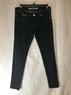 818de403538 E. Line Woman s Jeans CRYSTAL EMBELLISHED Pockets size 7 blue straight leg  E13  fashion