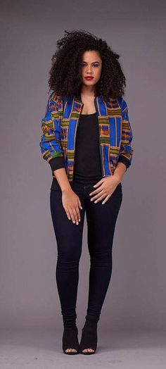 Willa Bomber. A beautiful statement unlined top ready to wear either with your favorable pair of jeans or skirt. Ankara | Dutch wax | Kente | Kitenge | Dashiki | African print bomber jacket | African fashion | Ankara bomber jacket | African prints | Nigerian style | Ghanaian fashion | Senegal fashion | Kenya fashion | Nigerian fashion | Ankara crop top (affiliate)