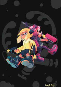 Scribbletalk — Two prints I've managed to whip up in time for. Splatoon 2 Game, Nintendo Splatoon, Geek Culture, Pokemon Room, Fanart, Manga Characters, Cool Artwork, Game Art, Amazing Art