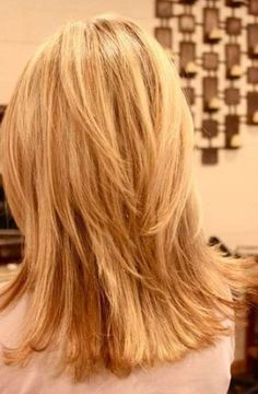 Layered Straight Hair Back