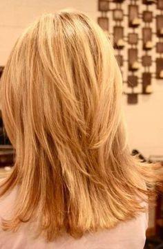 Layered Straight Hair Back