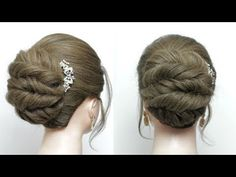 Easy Twisted Bun Hairstyle. Simple Updo For Long Medium Hair - YouTube