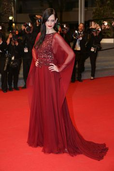 Gothic Red at the 67th Annual Cannes Film Festival - Style Crush: Eva Green  - Photos
